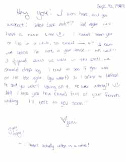 Jeni's Letter