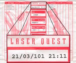 Laser Tag Score Sheet