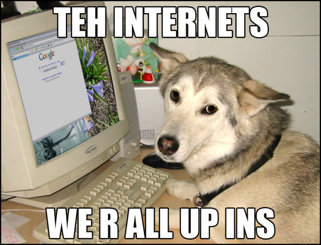 TEH INTERNETS: WE R ALL UP INS