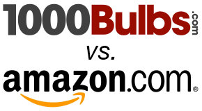 1000Bulbs vs. Amazon