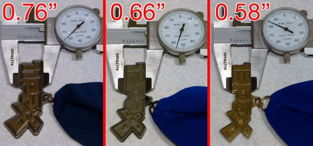 Height Comparison of PAX Medals: 2011, 2012, 2013